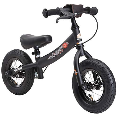 Bikestar Bicicleta de Equilibrio para niños de 2 años con neumáticos de Aire y Frenos | edición Deportiva de 10 Pulgadas | Negro