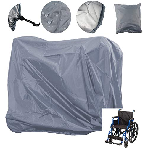 Lmeison Wheelchair Cover Waterproof, Mobility Scooter Outdoor Storage Cover Oxford Fabric Lightweight Rain Protector from Dust Dirt Snow Rain Sun Rays - 55 x 26 x 36 inch (L x W x H)