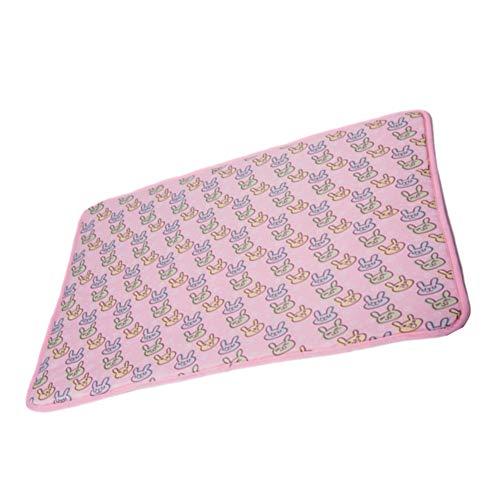 xihan123 Manta Refrescante Gato Material Duradero Esterilla Refrigerante Perro Fondo Antideslizante Alfombra Refrigerante para Perros para Mantén Al Perro Fresco Pink,Large