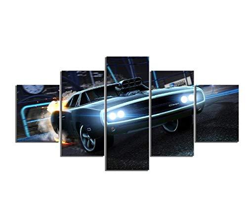 classement un comparer Décoration de la maison 5pcs voiture de sport Rocket League affiche Photo Fast & Furious…