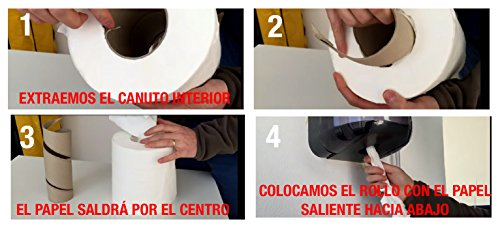 Pack de 12 rollos de papel secamanos MINI mecha Clim Profesional®. Papel