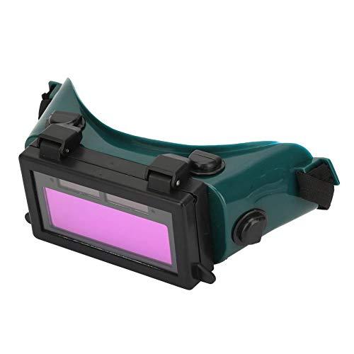 Gafas de soldadura Oscurecimiento automático, gafas de soldador Oscurecimiento automático Gafas de máscara de soldador solar Gafas de soldadura Gafas de protección(Verde oscuro)