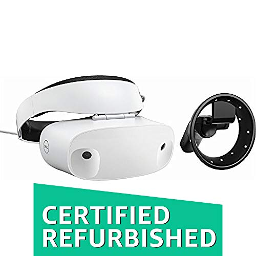 Affordable Dell - Visor Virtual Reality Headset and Controllers for Compatible Windows PCs (Renewed)...