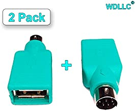 WAREHOUSEDEALS USB Female to Ps2 PS/2 Male Mouse Keyboard Pc Computer Converter Adapter Plug (2 Pack)