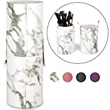 Makeup Brush Holder Travel Brushes Case Bag Cup Storage Dustproof for Women and Girls (Marble)