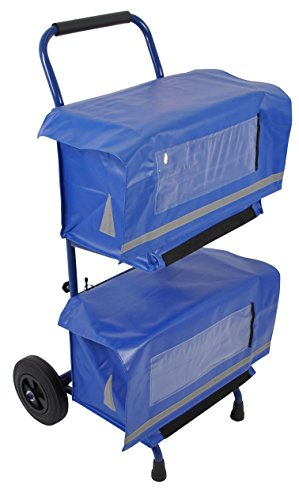 Zeitungswagen mit 2 Zeitungstaschen aus hochwertiger & wasserabweisender LKW-Plane für Zeitungswagen und Fahrrad geeignet Zustellerbedarf für Zeitungsausträger