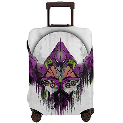 Neon Genesis Evangelion Travel Suitcase Protector Scratch-Resistant Dust-Proof Stretchable and Flexible Travel Luggage Protective Cover XL