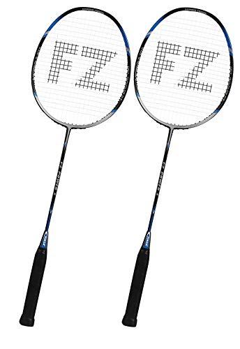 FZ Forza - Badmintonschläger Power 6 - Tolles Graphit-Alu Racket für Einsteiger und Fortgeschrittene - Super Preis-Leistungsverhältnis - besaitet - blau - Set aus 2 Schlägern