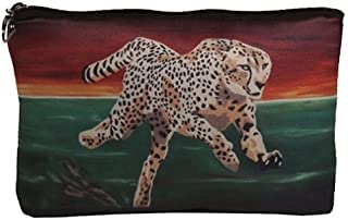 Cheetah Cosmetic Bag - From My Original Painting, Twilight Run - Support Wildlife Conservation, Read How