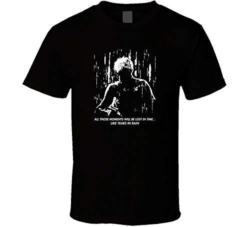 Blade Runner Tears In Rain Logo Shirt Black White Tshirt Men's Blackm
