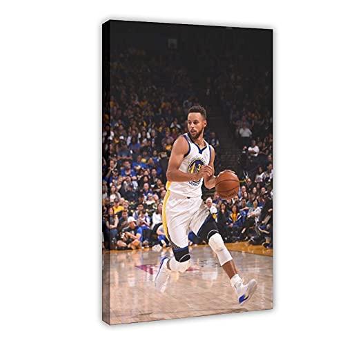 Stephen Curry famosa estrella de baloncesto juego de lona póster decoración de dormitorio deportes paisaje oficina decoración marco de regalo: 60 x 90 cm