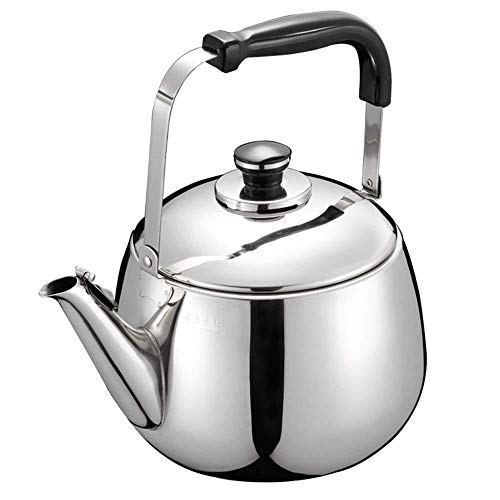 Théière XINYALAMP Whistling Kettle for Le gaz HOB, Finition Miroir Whistling en Acier Inoxydable Poli Capsule Base Stovetop Teakettle thé Bouilloire Teapot, gaz électrique à Induction Compatible