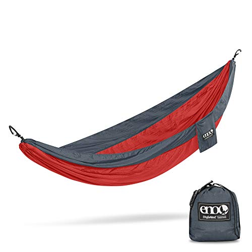 ENO - Eagles Nest Outfitters SingleNest Lightweight Camping Hammock, Red/Charcoal
