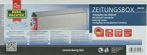 BURG-WÄCHTER, Zeitungsbox mit geprägeter Schrift, Metall, 808 E, Eisen - 7