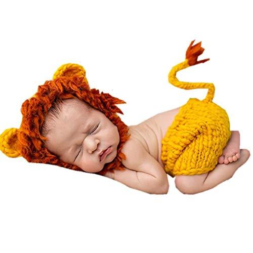 Wuderland Ropa de bebé recién Nacido de Animales Hechos a Mano del bebé del Estilo Apoyo de la Foto de la técnica de Punto de Lana Ropa de Vestir Fotografía de Ganchillo