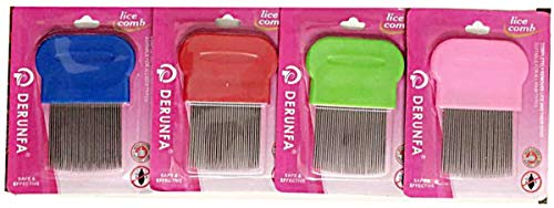 1 x Metal Nit Hair Comb for Lice and Nit Removal New and Unique Professionally Designed lice Combwith Hard Plastic