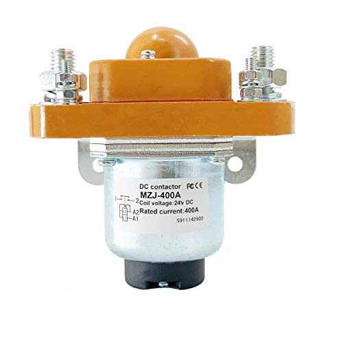 DOMINTY New Universal Contactor Solenoid MZJ-400A 24 Volt 400 Amp Fit for Heavy Duty Golf Cart