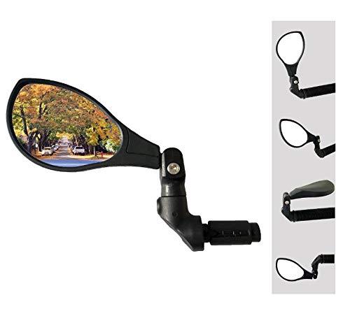 Hafny 2021 NEW Bar End Bike Mirror, HD Automotive Grade Glass Lens, Large Surface, Shatterproof, Multi-Angle Adjustable, E-Bike Mirrors