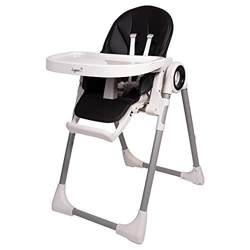 Trona infantil Fency para niños de 6 a 36 meses, 7 niveles de altura, carga máxima de hasta 20 kg, trona universal 3 en 1 (negro)