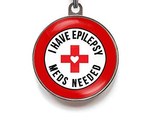 Wag-A-Tude Tags I Have Epilepsy Meds Needed - Medical Alert Pet Tag (Large)