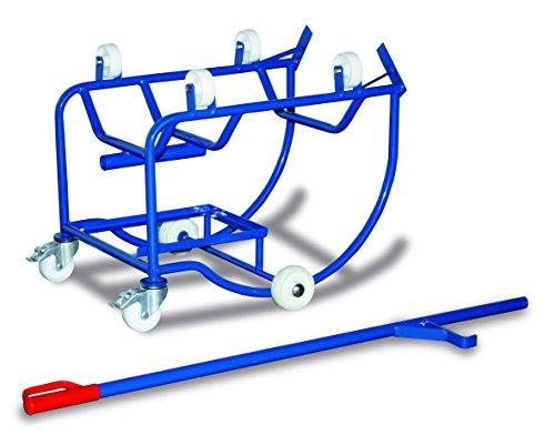Fasskipper mit 4 Kunststoffrollen Traglast (kg): 250RAL 5010 Enzianblau