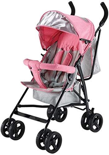Carretilla Aleación de aluminio de peso ligero del cochecito del carro de bebé del cochecito de niño paraguas plegable, Perspectiva Tragaluz, cinco puntos del cinturón de seguridad Triciclo