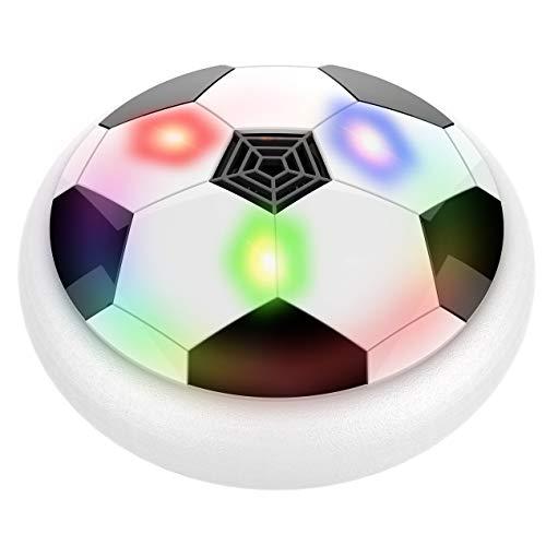 Longspeed Schwebekugel LED-Licht Blinkende Luft Power Fußball-Scheibe Hallenfußballspielzeug Mehrflächiges schwebendes und gleitendes Spielzeug - Weiß