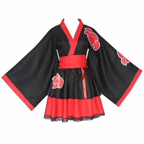 Costume cosplay anime NARUTO Akatsuki, set kimono unisex utilizzato per cosplay festival o regali