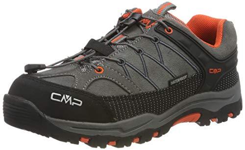 CMP Unisex-Kinder Kids Rigel Low Shoes Wp Trekking- & Wanderhalbschuhe, Grau (Stone-Orange 78uc), 37 EU