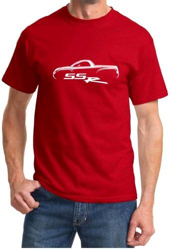 2003-06 SSR Hardtop Classic Car Outline Design Tshirt 3XL red