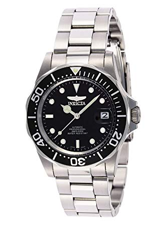 Invicta Men's 8926 Pro Diver Collection Automatic Watch, Silver-Tone/Black Dial/Half Open Back