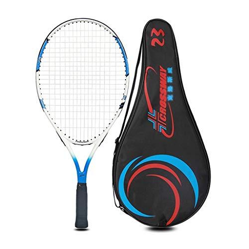 Raquetas De Tenis Integrada De Compuesto De Carbono Raqueta De Práctica para Niños Y Adultos (Color : Red, Size : 23 Inches)