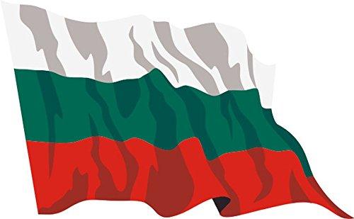 Aufkleber / Autoaufkleber Fahne A-LS28 Bulgaria - Bulgarien 10 cm fürs Auto oder Heckscheibe