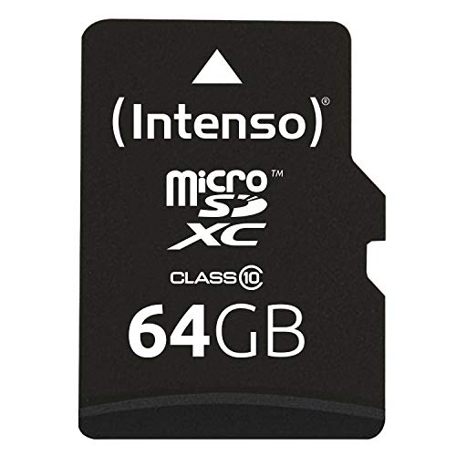Intenso 3413490 - Adaptador para tarjeta Micro SDXC 64 GB (class 10 incl, 40 MB/s) color negro