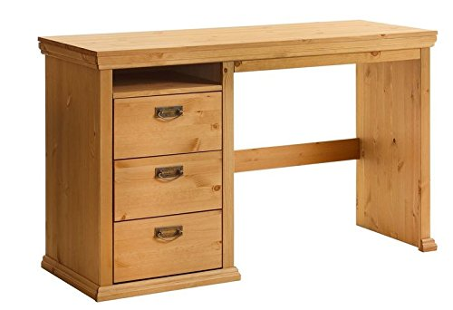 clever-moebel Schreibtisch Kiefernholz gelaugt/geölt, Tisch, Bürotisch, Schrank