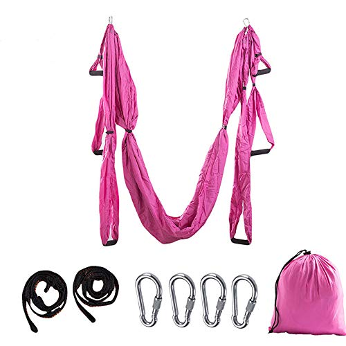 Find Bargain Fleurapance Yoga Hammock Premium Aerial Silk Fabric Yoga Swing for Antigravity Yoga Inv...