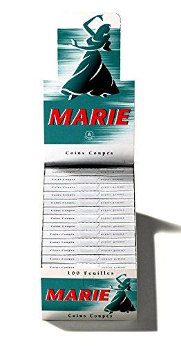 Marie 100er Zigarettenpapier Blättchen papers kurz 3 Boxen (75 Heftchen)
