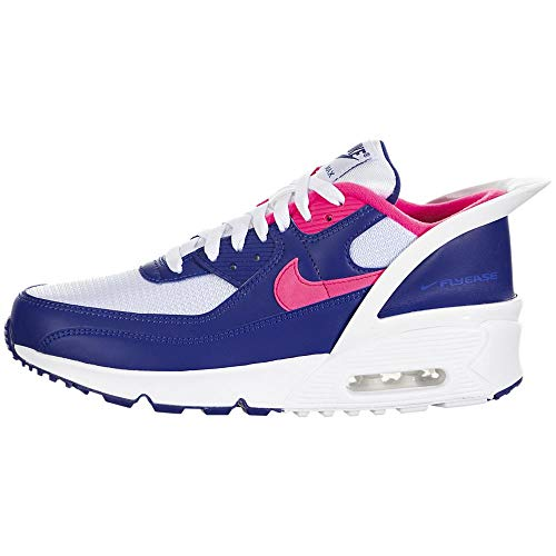 Nike Air MAX 90 Flyease GS Running Trainers CV0526 Sneakers Zapatos (UK 4.5 us 5Y EU 37.5, White Hyper Pink White 101)