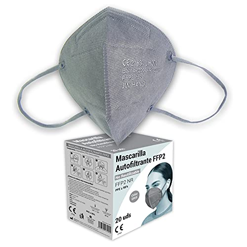 Audix Bitee Mascarilla FFP2 – Homologada CE2163 - Eficiencia 95% - Envuelta Individualmente - Paquete 20 unidades