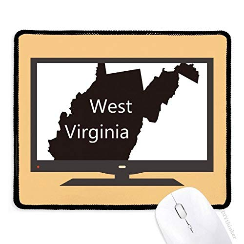 Virginia Amerika USA West Map Silhouette Computer Mouse Pad Niet-slip Rubber Mousepad Game Office
