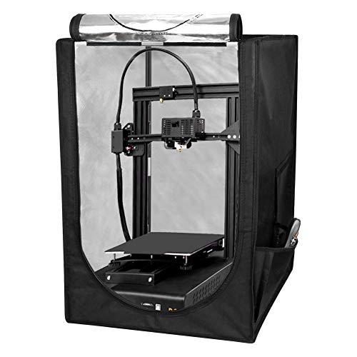 S SMAUTOP Custodia per Stampante 3D per Temperatura Costante, Copertura per Stampante 3D con Protezione Ignifuga Antipolvere Impermeabile, Tenda Pieghevole Durevole per Ender 3, Ender 3 Pro, Ender 5
