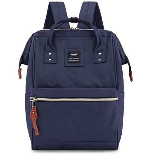 Himawari Travel School Backpack with USB Charging Port 15.6 Inch Doctor Work Bag for Women&Men College Students(H900d-L USB Blue)