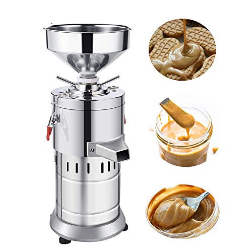 2020 Upgraded Commercial Peanut Butter Machine, 220V Butter Extractor Machine,Electric Sesame Maker, Electric Nut Butter Grinder 65LBS/hr, 1100W