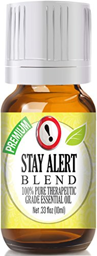 Stay Alert Blend Essential Oil - 100% Pure Therapeutic Grade Stay Alert Blend Oil - 10ml