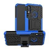 betterfon | Huawei Y6 2019 Outdoor Handy Tasche Hybrid Case Schutz Hülle Panzer TPU Silikon Hard Cover Bumper für Huawei Y6 2019 / Honor 8A Blau