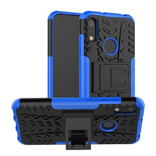 betterfon | Huawei Y6 2019 Outdoor Handy Tasche Hybrid Hülle Schutz Hülle Panzer TPU Silikon Hard Cover Bumper für Huawei Y6 2019 / Honor 8A Blau