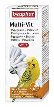 Beaphar - Multi-Vit, complexe de vitamines - perroquet et perruche - 50 ml