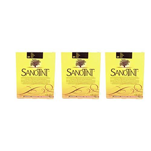SANOTINT Classic Farbe 01 Schwarz - 3 Packungen - 3 x 125 ml