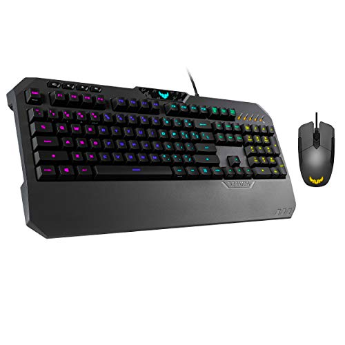 ASUS Gaming Battle Box - TUF K5 Mechanical Membrane RGB PC Gaming Keyboard + M5 Ambidextrous Gaming Mouse | Media Controls, Aura Sync RGB Backlight | Spills, Sweat & Abrasion Resistant | Black