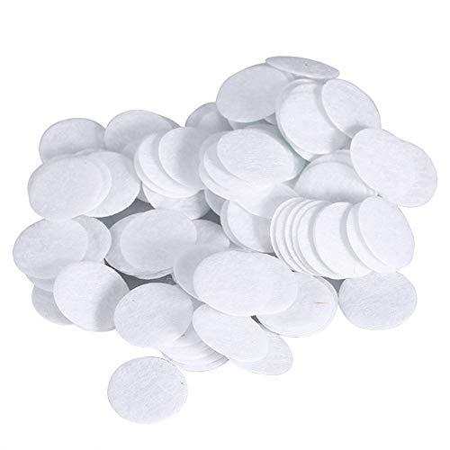 Microdermabrasion Baumwollfilter - 4 Größen Gesichtsvakuumfilter, Runde Filterpads Schwammfilter Ersatz (100 Stück) (Größe : 15mm)